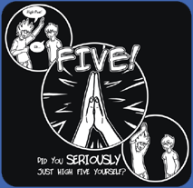 "The ""Five!"" Shirt - click to enlarge"